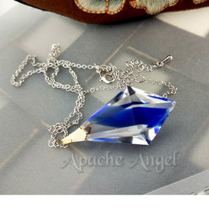 Givre Crystal & Blue Prism Pendant